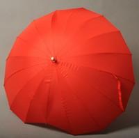 Red Heart Umbrella Rain Women' Umbrellas Female Parasol Wedding Umbrella