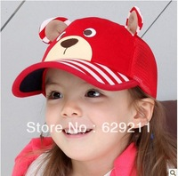 Retail, Winter Lovely Bear Model Baby Baseball Cap, Sun Hat for Boys and Girls, Free shipping