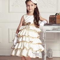 Girls princess beautiful flower dress,children elegant beading party dress,evening clothes,evening clothing,free shipping EQ14