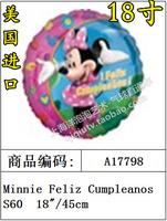 Free Shipping 17798 balloon aluminum foil ball feliz cumpleanos minnie balloon arch balloon decoration