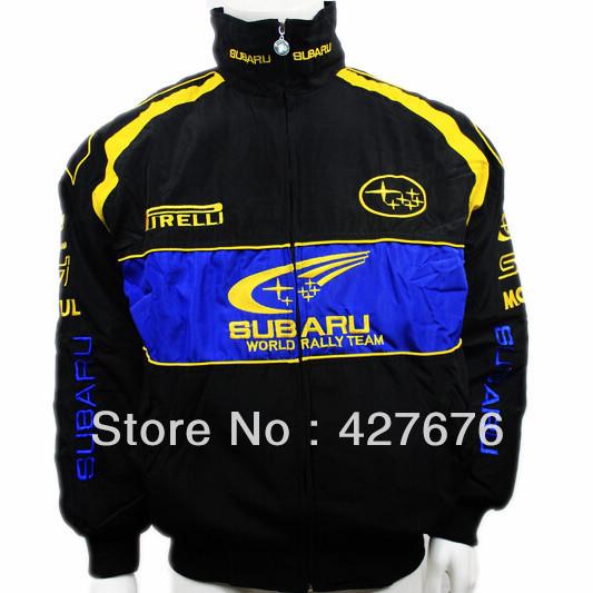 Vestuário F1 SUBARU carro de corrida automóvel de manga comprida casacos de algodão acolchoado jaqueta de logotipo bordado A084(China (Mainland))