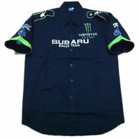 F1 automobile race clothing SUBARU short-sleeve shirt embroidery c084