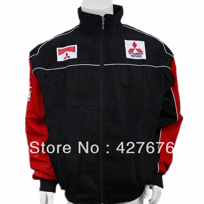 Jaqueta de algodão acolchoado roupas F1 MITSUBISHI carro de corrida automobilística de longa manga do casaco outerwear completo bordado A177(China (Mainland))