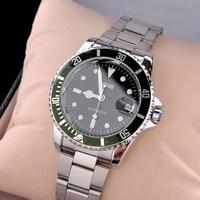 2013 Original Fashion Luxury Silver Polish Stainless Steel Watchband Automatic Mechanical Date  Wristwatch