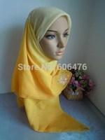 mu1394 wholesale with gorgeous hot fix rhinestone muslim square scarf gradient scarf  elegant islamic hijab
