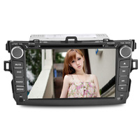 8 inch car dvd player for Toyota Corolla(07-11)with blue tooth/FM/AM/GPS/RDS/steering wheel control