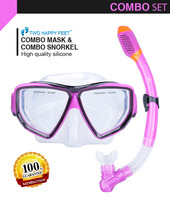 Hot Sale New pureple Scuba Diving Equipment Dive Mask Dry Snorkel Set Scuba Snorkeling Gear Kit