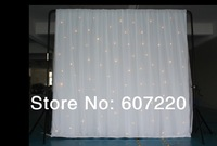 led star curtain Led star cloth  wedding backdrop stage background cloth 4*6M golden color with gossamer
