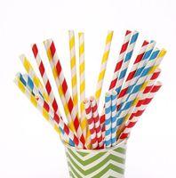 193colors paper drinking straws polka dot chevron Stripe event supplies Party Favor Decoration Retro Soda Weddings Birthdays