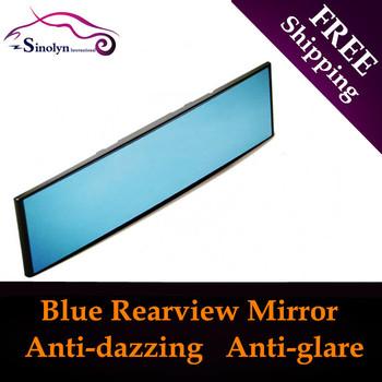Универсальный авто 300 мм синий выпуклый зеркало заднего вида внутреннее зеркало ...