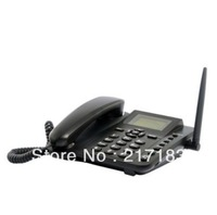 Portable Removable Wireless GSM Desk Phone - Quadband, SMS function Rechargeable Battery