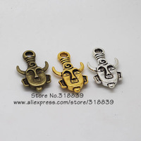 Wholesale 12pcs/lot  21*36mm Two Color Plated Metal Alloy Double-sided Supernatural Charms Jewelry Charms 6643