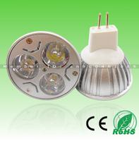 2pcs Free Shipping! Hot sell 3X1W Epistar LED CHIP 330lm AC85-265V/12V E27/GU10/MR16 Aluminum CE RoHS LED Spotlight