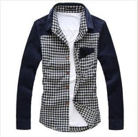Hot +2013,men's casual thick shirts, fashion men's flannel shirts,high quality shirts,shirts M-XXXL3 colors + drop shipping B1