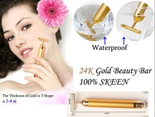 {Beauty Bar} HOT Sale!!! 24K Gold Magic Energy Beauty Bar Face Massag ,Active Gold Beauty Care>6000 Ion per min Free Shipping