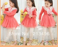 free shipping!2013 hot girl lace dress ,baby girl clothes  5pcs/lot    LJB01