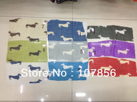 Free shipping ladies fashion animal small dog scarf  big size in mix colour