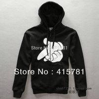 2013 Winter Hot sale!Sweatshirt cothing male zipper crooks men's long-sleeve hoodies casual coat hiphop cotton jacket M-XXXL