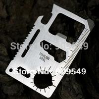 Wholesale Survival Knife Multi Tool Camping Saber/card/Multifunction Outdoor Lifesaving Tool  free shipping 3pcs/lot