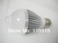 new!! free shipping 5w 7w 10w 14w 5630E27 85-260V LED Infrared Motion Sensor White Light Bulb Lamp motion led bulb