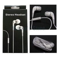 100pcs Stereo 3.5mm Headphones Earphone with Mic for Iphone 4S 4G 3G S Ipad Mini, with retail package