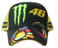 Free shipping 2013 Mesh Vr46 fans F1 racing car classic motorcycle motobike cotton baseball adjustable sports hat cap