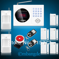 Free Shipping! New Wireless GSM 850/900/1800/1900 LCD Home Burglar Auto Dialer Security Alarm System sms call