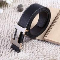 2013 Free Shipping,Men's Belt ,Fashion Faux Leather Premium S Shape Metal Mens strap man Ceinture Buckle Belt men's belt