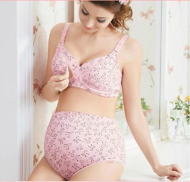 Plus-Size-Maternity-Bra-panties-set-100-cotton-maternity ...