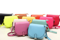 ECOSUI New Year Candy Color Women Leather Handbags Korea Style Cute Women Messenger Bags Casual Lovely Shoulder Bags