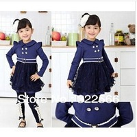 2013 Retail- Free Shipping New Autumn Fashion  Girl's Baby dress Lace Girls Dress Children's dresses Kids wear Kids clothes