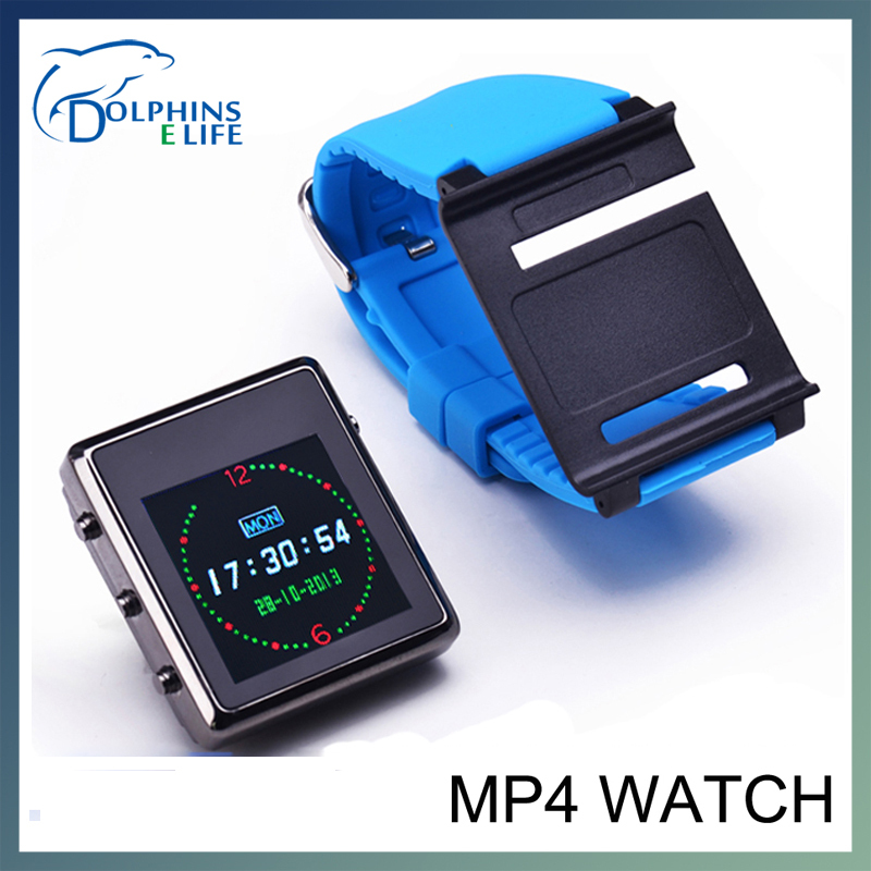 Christmas Gift MP4 Player Watch Clip 1.44 Inch TFT HD Screen 2G/4G/8GB Optional digital watch free shipping(China (Mainland))