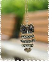 (Min order $10) Fashion Korea Style Night Owl Shape Sweater Chain Animal Necklace with Zinc Alloy Free Shipping