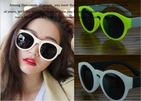 1PC Free Shipping Round OF2030  Women And Men Sunglasses Rubber Frame Colorful Sun Glass Classical Design Promotional Glasses