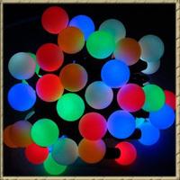 Free Shipping 2pcs/lot Christmas RGB 5M 50 Leds Ball Led String Lights Holiday Decoration Lighting 220V