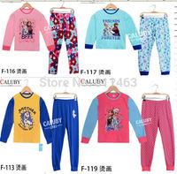 retail / new 2014 children big boys girls 8-12 years  frozen clothing set / children pajama sets / kids clothes sets