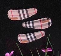 Free shipping wholesale 2013 british style cute bobby hair pins plaid design hair clips barrettes women girls hair ornaments G8