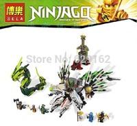 2013 New. Bela 9789 4 Dragons Armageddon Dragon Boat Epic Armageddon, 911Pcs/Set. Phantom Ninja. Children DIY Educational Toys