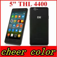 Original THL 4400 mtk6582 quad core 4400mah mobile phone 5'' HD Gorilla Glass Android 4.2 1GB RAM 4GB ROM 8MP OTG Wendy