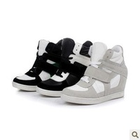 HOT Sale! 2014 Summer Isabel Marant Hole Wedges Sneakers Women Shoes Height Increasing Boots Genuine Leather + PU Leather Y1209