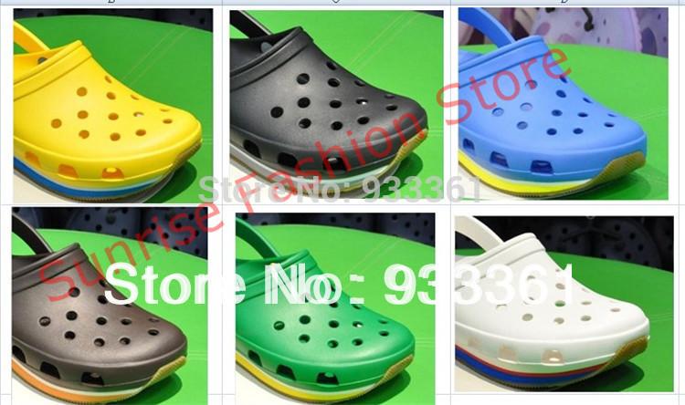 10 colors Retro Clog Sandals New Men and Women 's Comfortable Hole Flip-Flops, Clogs Sandal Shoe wholesale and retail(China (Mainland))