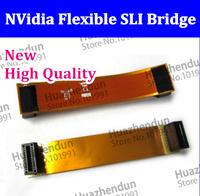 2PCS/LOT New Two Way NVidia Flexible SLI Bridge PCI-E Video Connector  Free Shipping High Quality