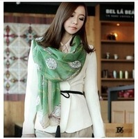 Free Shipping New 2013 Korean Fashion Winter Women  Long Scarves Watches Decration Shawl 3 Colors For Choose