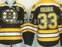 Wholesale ICE Hockey Jerseys Boston Bruins #33 Zdeno Chara Black C Patch Embroidery Women Jersey Free Shipping