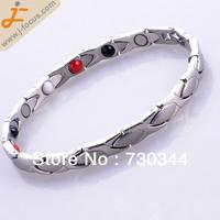 stainless steel magnetic hematite bangle Bracelet, with magnetic hematite bead. Anti-Fatigue Energy Bracelet