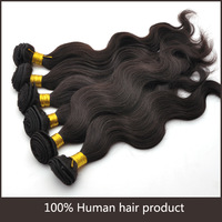 4pcs/Lot Body Wavy Jet Black Color 1# Brazilian Hair Can Not Be Dyed