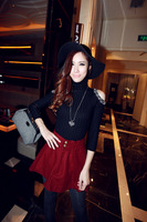 Classic turtlenecks female shoulder bright drill the slim slim knit