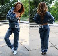 2013 autumn wear new style jogging tracksuit girl's clothes fashion set sport suit T-shirt + pants women's sports sets clothing