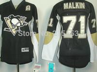 Wholesale ICE Hockey Jerseys Pittsburgh Penguins #71 Evgeni Malkin Women Jersey Free Shipping Stitched A Patch