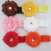 6 color baby Girl infant  hair band diy Hair Flower headbands kid's hair acessories 12HB002